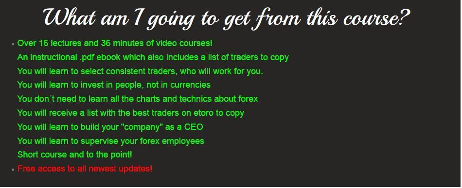 eToro Forex Course